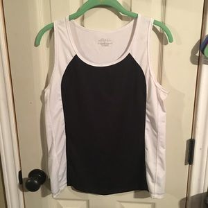 Black and white workout tank top